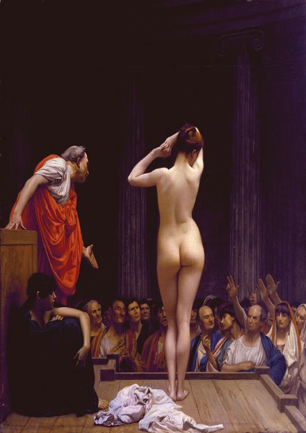 Gerome, Jean Leon: Selling Slaves in Rome. Fine Art Print/Poster. Sizes: A4/A3/A2/A1 (00911)